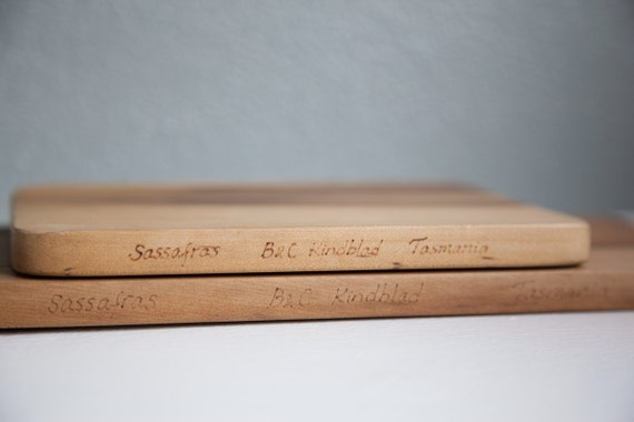 Tasmanian Sassafras Wood Cheese Board and Cutting Board