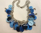 Blue Charm Necklace