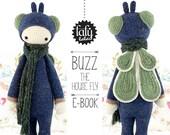 lalylala crochet pattern HOUSE FLY BUZZ - amigurumi