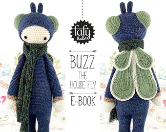 BUZZ the house fly • lalylala crochet pattern / amigurumi