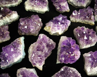 "2.5""-3.5"" Amethyst cluster chunk purple quartz crystal -Upick Quantity- natural gemstone rock stone mineral specimen SIZE MEDIUM"
