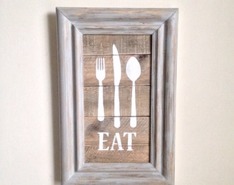 Kitchen Decor made from reclaimed wood
