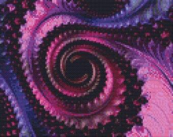 Fractal Cross Stitch Pattern 162 Patterns Instant Download pdf Cross Stitch Design