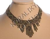 Modern Ukrainian Handmade Beads Beaded NECKLACE Gerdan.