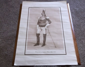 Vintage Italian Military Police in Uniform Print Poster