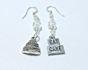 Personalized Cake Lovers Themed Earrings