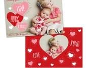 INSTANT DOWNLOAD -  Valentine Photoshop Template - E985