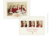 INSTANT DOWNLOAD - Valentine Card Photoshop Template - Filled hearts - E294