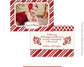 Photoshop Holiday Card Template - Be happy - E225