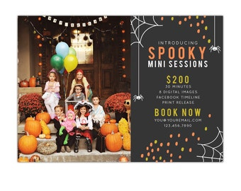 Halloween Marketing Mini Session board - Photoshop template -  E1112