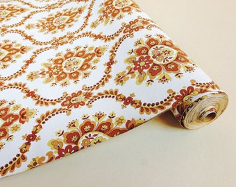 Vintage wallpaper roll 70s paisley