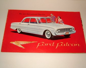1959 Ford Falcon Vintage Advertising Brochure FD C 6017 F1 - The New International Class Car Vintage Ephemera Vintage Automobilia