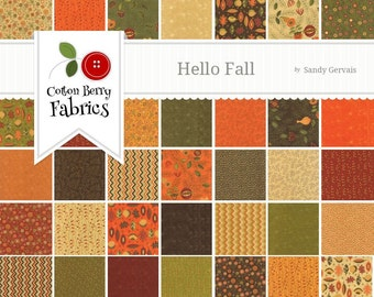 Hello Fall Charm Pack by Sandy Gervais for Moda - One Charm Pack - 17780PP