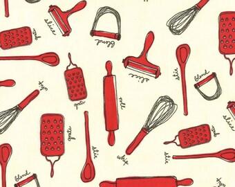 Milk Cow Kitchen Strawberry Jam Kitchen Tools by Mary Jane for Moda - One Yard - 11614 16