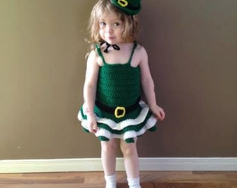 Hand crocheted Little Girl Dress/Outfit/Costume/Photo Prop