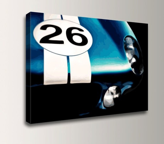 "Shelby Cobra - Man Cave - Car Wall Art - Ford Mustang Print - Race Car Decor - "" Shelby """