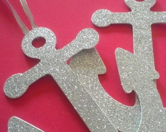 Anchor Ornaments 5 Inch  You Choose Your Colors Other Colors Available 63q3789 Set Of  6