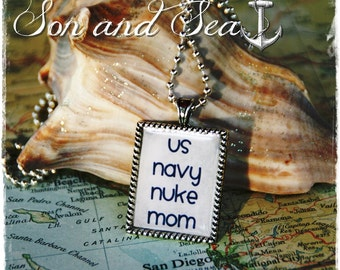 US Navy Nuke mom pendant necklace by Son and Sea FREE US shipping