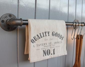 Industrial Kitchen Storage Rail - Storage Bar - Towel Bar Pot Rack -  Coat Rack