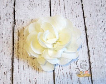 Ivory Chiffon Rose Bridal Hair Clip  Wedding Bridal Flower Girl Flower Bride bridesmaid Women