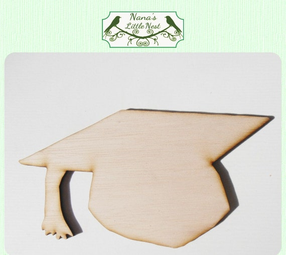 Graduation hat mortar board wood cut out laser cut for Graduation mortar board template