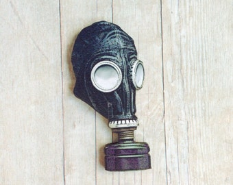 Gas Mask Brooch Steampunk Brooch