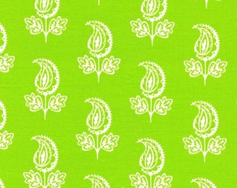 Michael Miller Lime Green Paisley Pillow and Maxfield 1/2 yard