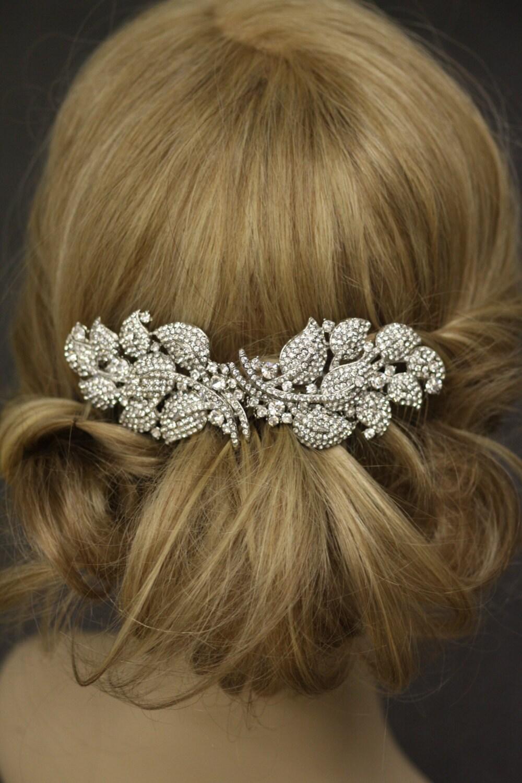 6 Inches Long Veil Comb Bridal Comb Crystal Wedding