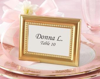 Gold Picture Frames 150 Set - Place Card Holders - Wedding Favors Party Favor Table Number Metal Frame - Wedding Bridal Shower