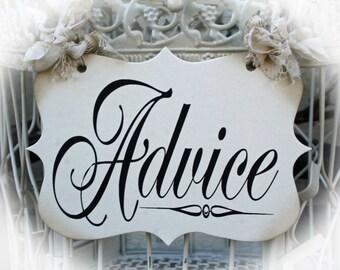 Advice Sign for birdcage or basket
