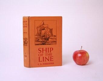 Vintage Book Kindle Cover, Nook Cover- Ereader Case- Ship of the Line