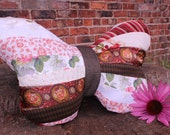 Vintage Patchwork Butterfly Pillow, Butterfly Cushion, Vintage Home Decor