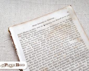 German Gutenberg Calligraphy Text - 25 pages - paper ephemera - Vintage Craft Supplies