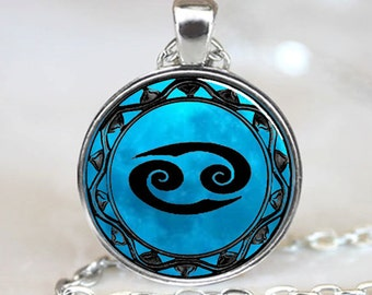 Cancer Zodiac Pendant, Cancer Zodiac Necklace, Cancer Zodiac Jewelry (PD0461)