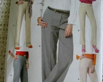 Butterick Misses Womens Dress Pants Slacks Sewing Pattern B5818 Size 14 16 18 20 22