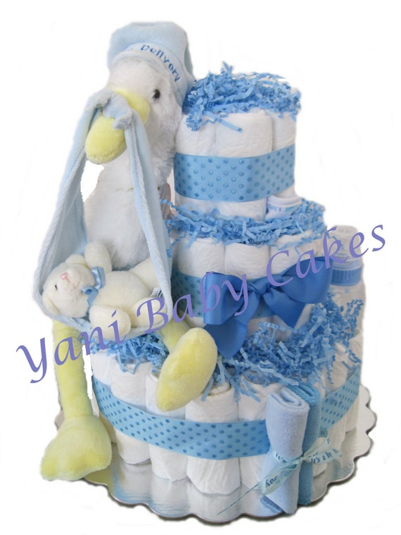 unique baby shower centerpiece baby boy special delivery stork