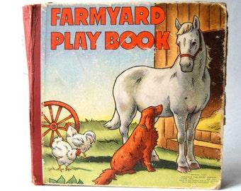 Vintage Farmyard Play Book