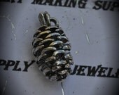 Pinecone Sterling Silver Plated Charm