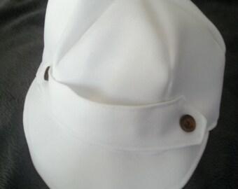 Baby Boy White Christening Hat, Baby Boy White Baptism Hat