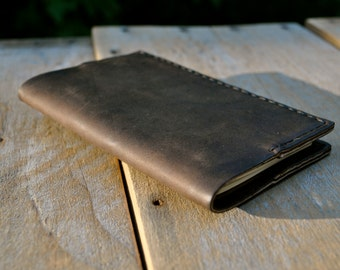 Traveller's Small Coffee Brown Leather Moleskine Notebook Cover