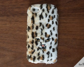 Leopard iPhone Cover for iPhone5 / 5c / 5s [soft type] Yellow