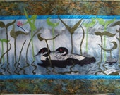 Loons in the Mist - Quilted Wall Hanging - Made to Order - HANDMADE BY ME