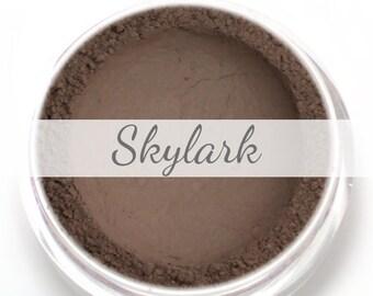 """Eyeshadow Sample - """"Skylark"""" - Matte Taupe Grey Brown Vegan Mineral Eyeshadow Net Wt .4g Mineral Makeup Eye Color Pigment"""