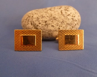 Gold Toned Square Cuff Links
