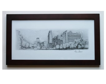 "omaha nebraska - old Market - downtown omaha  art print 10""x20"""