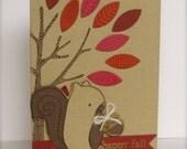 Fall Card, Squirrel Card, Autumn Card, Autumn Tree Card, Fall Tree Card