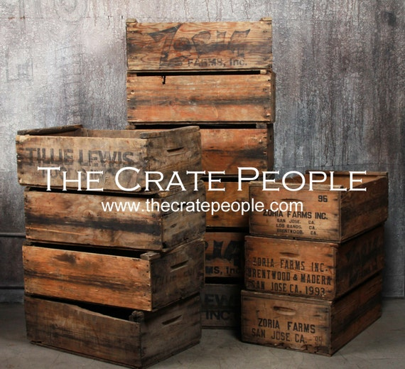 Wooden crates cheap for Vintage crates cheap