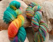 handdyed Yarn, 100g/ 3,5oz , colour Meadow