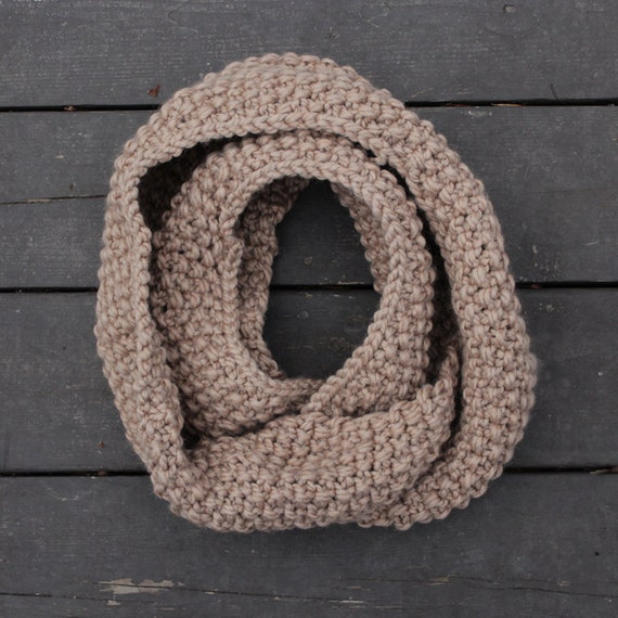 The Cape North Scarf seed stitch chunky hand knit infinity