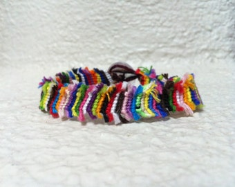 Colorful Frayed Friendship Bracelet, Made to Order